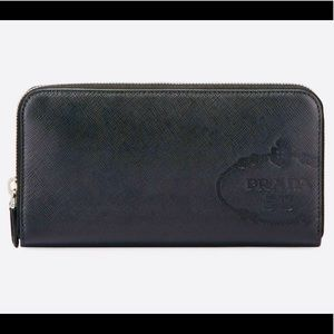 NWT! PRADA Saffiano Continental Leather Wallet